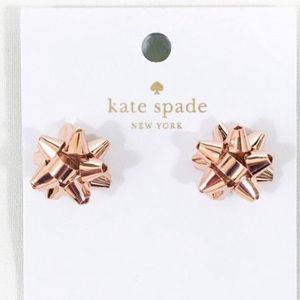 Kate Spade - NWT Rose Gold Bourgeois Bow Earrings